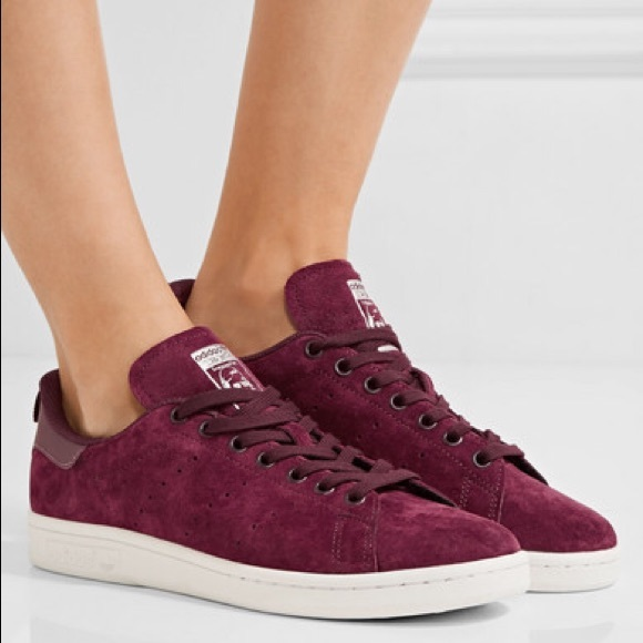 pick up a5343 006fc ADIDAS Stan Smith Leather Trim Suede Sneakers